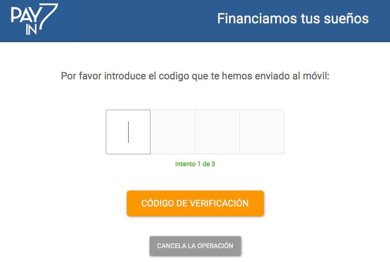 Verificación de tu identidad para financiar